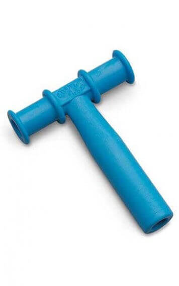 blue chewy tube