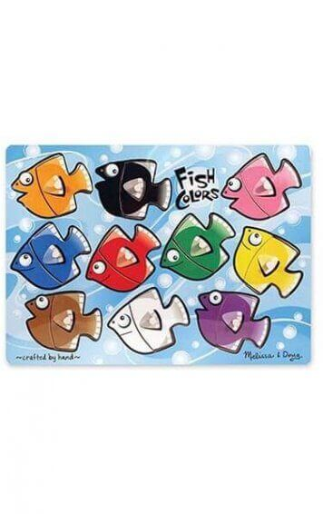 Fish Colours Mix and Match Peg Puzzle