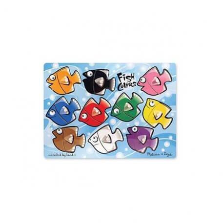 Fish Colours Mix and Match Peg Puzzle