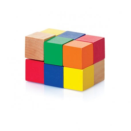 Wooden Cube Puzzle Fun