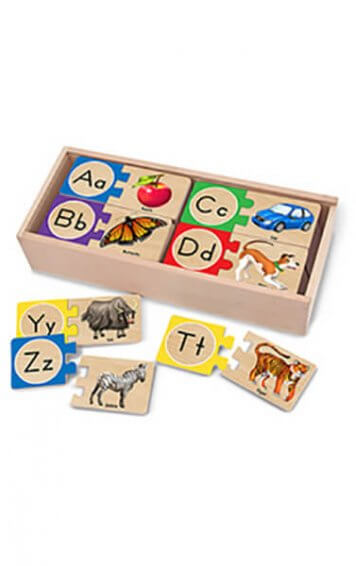 self-correcting alphabet letters puzzle