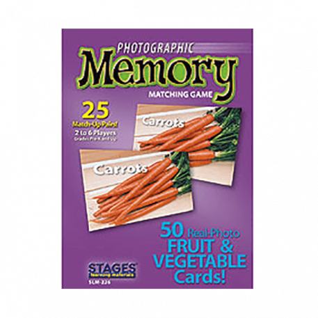 Fruits and Vegetables Memory Card Game