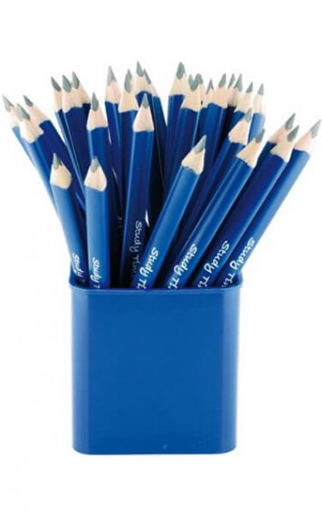 Six Jumbo Triangular Pencils and Double Hole Sharpener