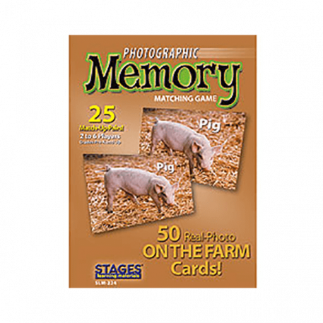 on the farm memory card game