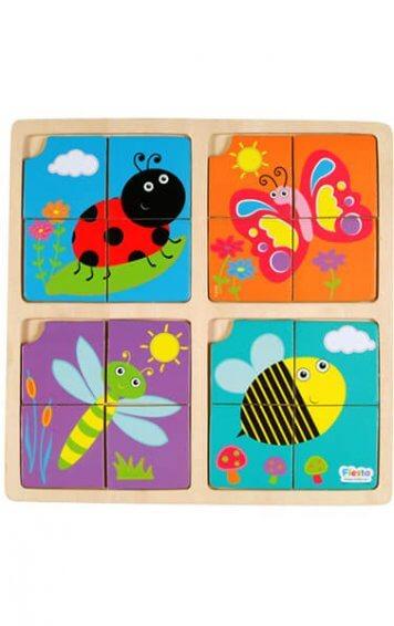 four piece garden puzzle