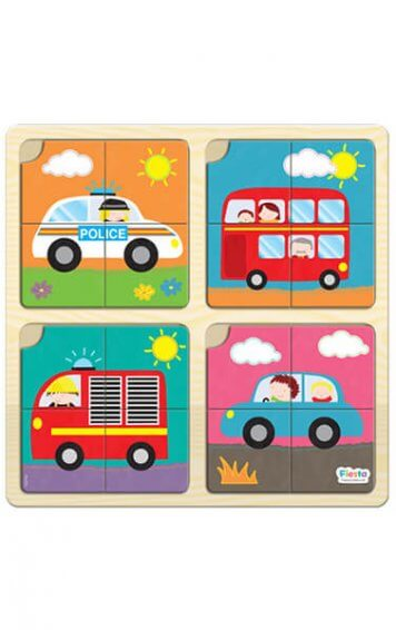 Four Piece Vehicles Puzzle