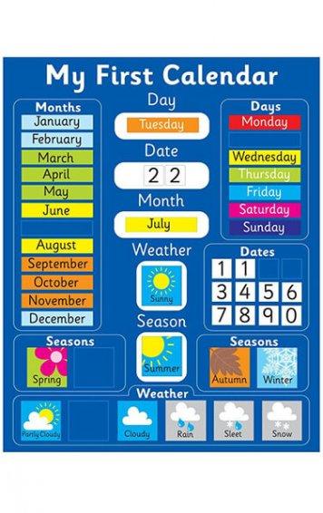 My First Magnetic Calendar - Blue