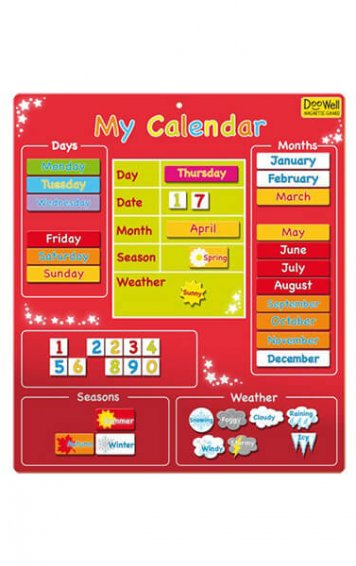 My First Magnetic Calendar - Red
