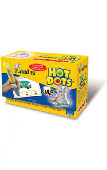 hot dots jolly phonics set two first words
