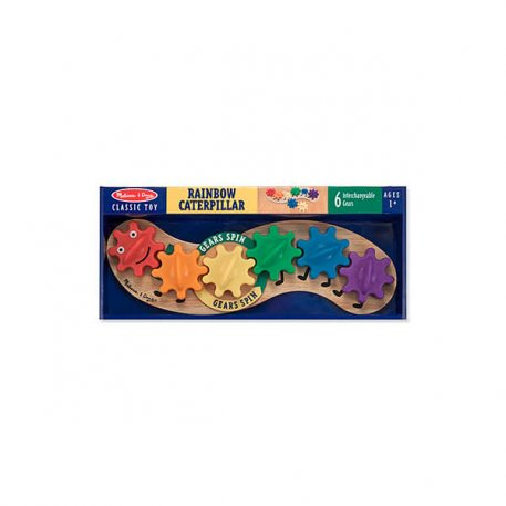 rainbow caterpillar gear toy