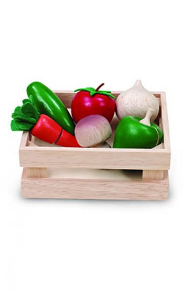toy veggie basket