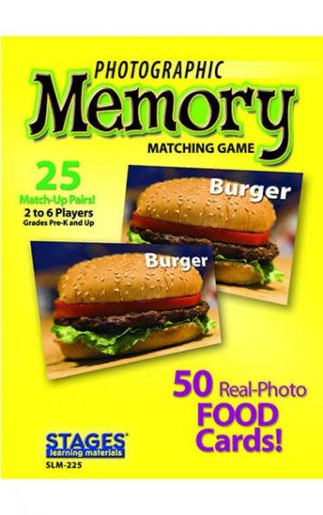 foods memory card game