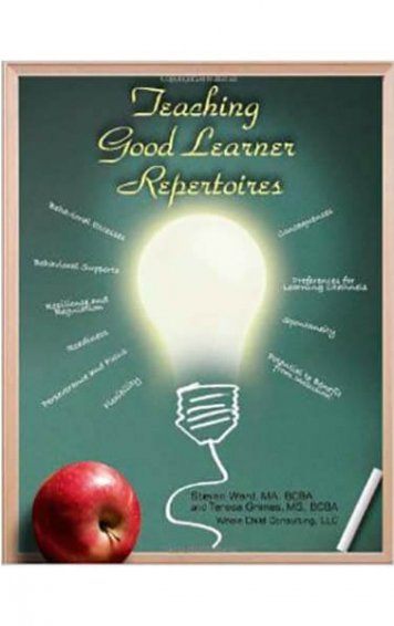 teaching good learner repertoires