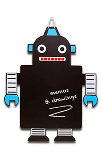 robot chalkboard
