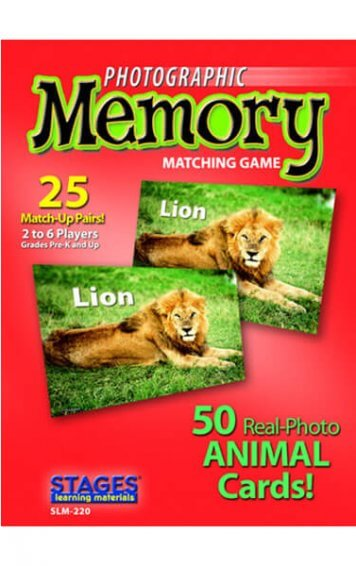 animals memory card game