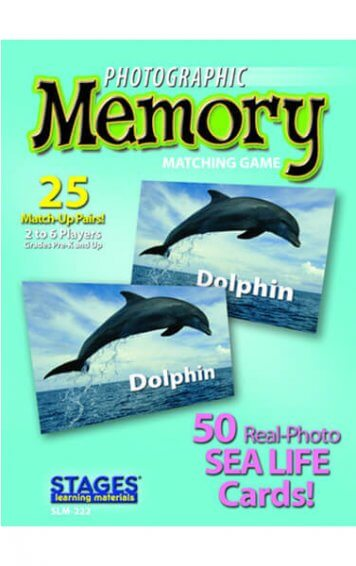 sea life memory card game