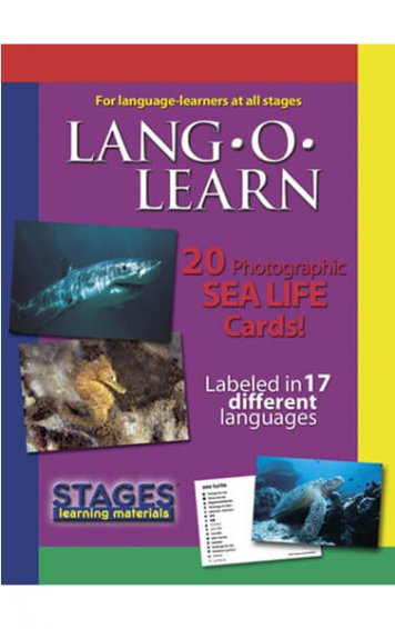 lang o learn sea life cards