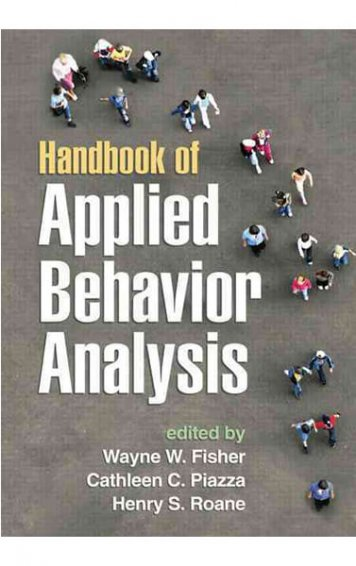 handbook of applied behavior analysis book