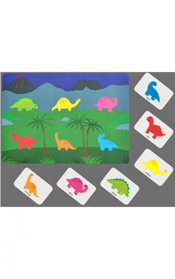 colour matching dinosaur game