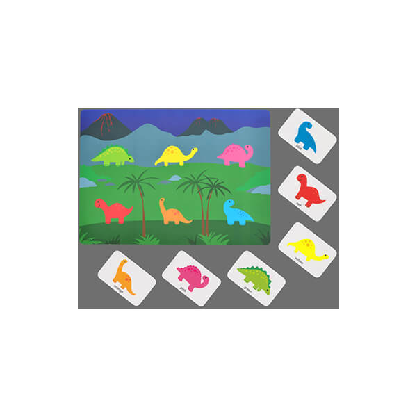 colour matching dinosaur game