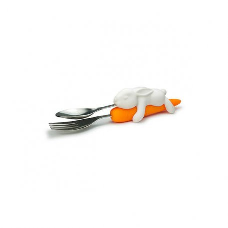 snack rabbit cutlery set