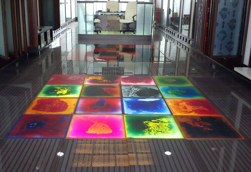Light Up Liquid Sensory Floor Tile Treezy