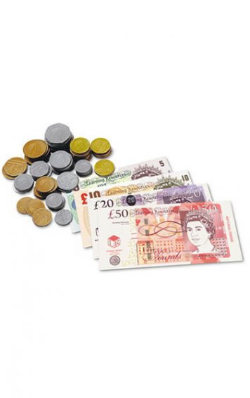 Coin and Note Play Money Pack