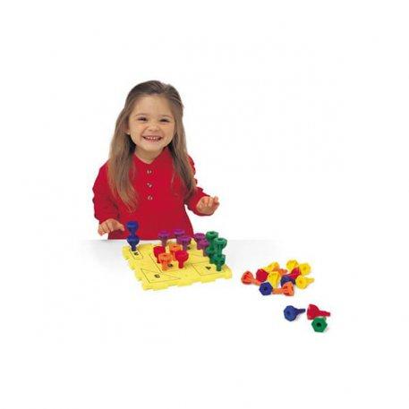 Rainbow Peg Play Activity Set