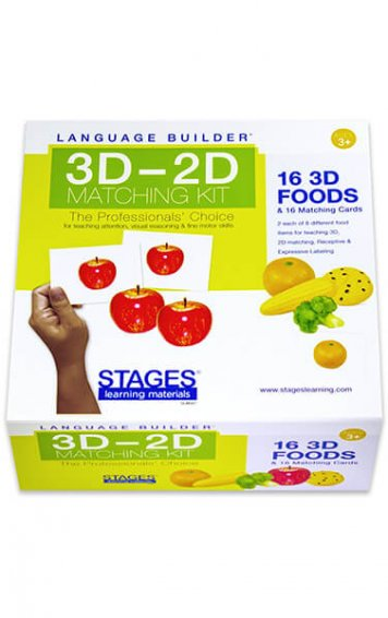 stages learning language builder 3D-2D