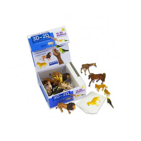 3D to 2D Matching Animals Kit