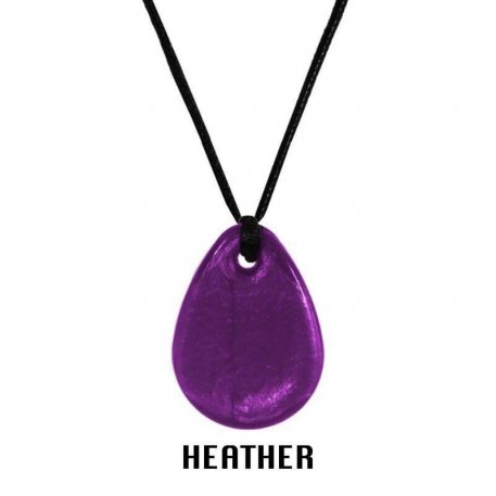 raindrop pendant heather